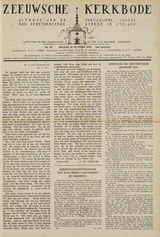 Zeeuwsche kerkbode, weekblad gewijd aan de belangen der gereformeerde kerken/ Zeeuwsch kerkblad 1945-10-12