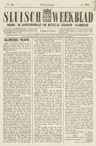 Sluisch Weekblad. Nieuws- en advertentieblad voor Westelijk Zeeuwsch-Vlaanderen 1865-10-06