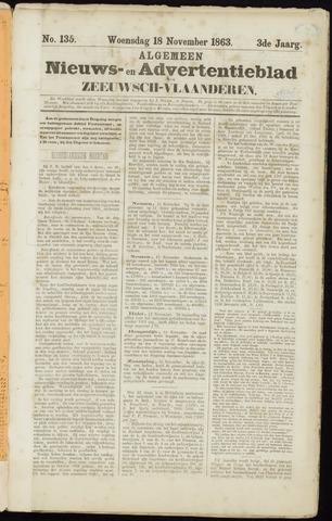 Ter Neuzensche Courant. Algemeen Nieuws- en Advertentieblad voor Zeeuwsch-Vlaanderen / Neuzensche Courant ... (idem) / (Algemeen) nieuws en advertentieblad voor Zeeuwsch-Vlaanderen 1863-11-18