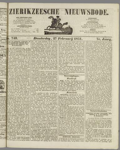 Zierikzeesche Nieuwsbode 1851-02-27