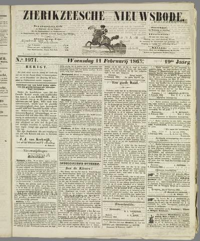 Zierikzeesche Nieuwsbode 1863-02-11