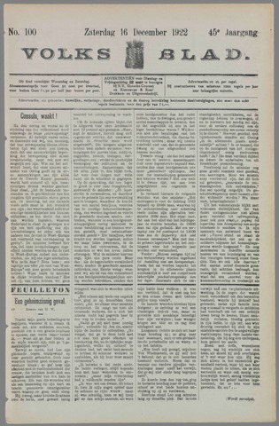 Volksblad 1922-12-16