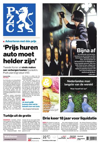 Provinciale Zeeuwse Courant 2016-07-27