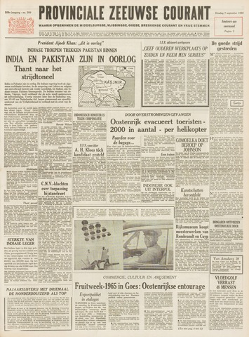 Provinciale Zeeuwse Courant 1965-09-07