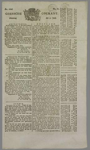 Goessche Courant 1826-07-31