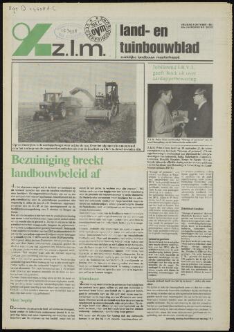 Zeeuwsch landbouwblad ... ZLM land- en tuinbouwblad 1981-10-09