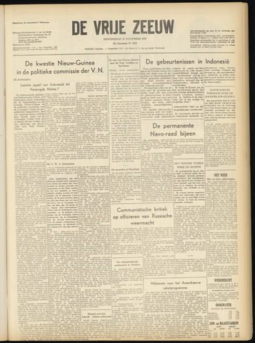 de Vrije Zeeuw 1957-11-21