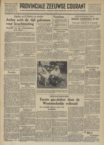 Provinciale Zeeuwse Courant 1951-09-20