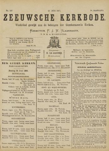 Zeeuwsche kerkbode, weekblad gewijd aan de belangen der gereformeerde kerken/ Zeeuwsch kerkblad 1891-06-20