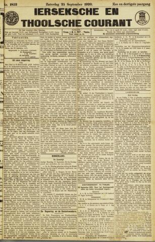 Ierseksche en Thoolsche Courant 1920-09-25