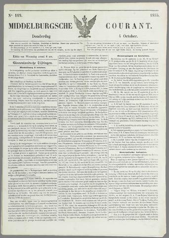 Middelburgsche Courant 1855-10-04