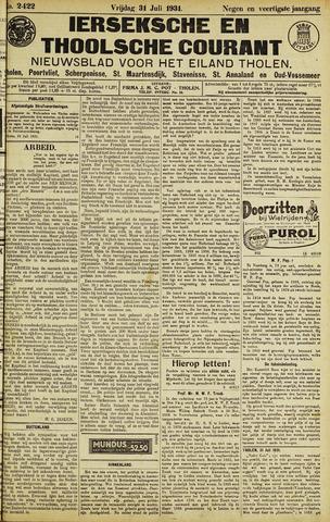 Ierseksche en Thoolsche Courant 1931-07-31