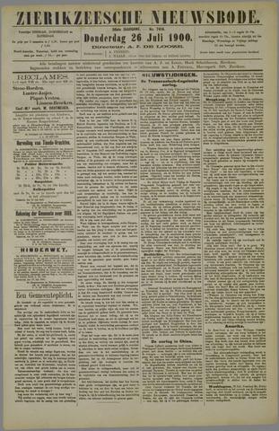 Zierikzeesche Nieuwsbode 1900-07-26
