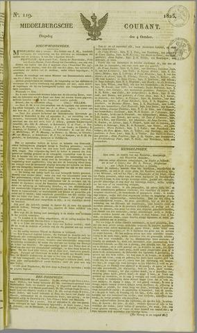 Middelburgsche Courant 1825-10-04