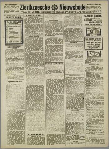 Zierikzeesche Nieuwsbode 1922-07-28