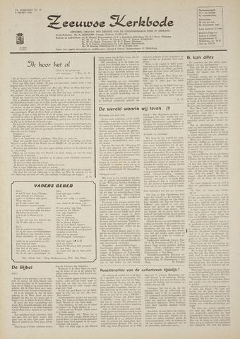 Zeeuwsche kerkbode, weekblad gewijd aan de belangen der gereformeerde kerken/ Zeeuwsch kerkblad 1969-03-06
