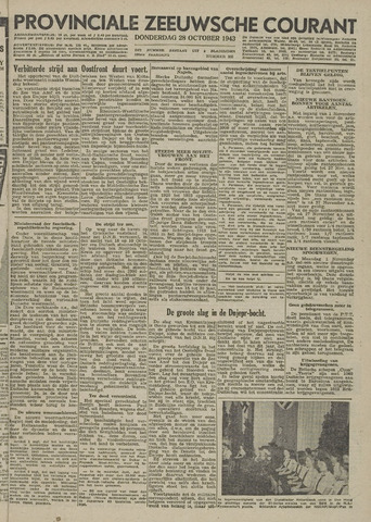 Provinciale Zeeuwse Courant 1943-10-28