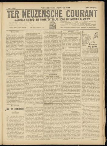 Ter Neuzensche Courant. Algemeen Nieuws- en Advertentieblad voor Zeeuwsch-Vlaanderen / Neuzensche Courant ... (idem) / (Algemeen) nieuws en advertentieblad voor Zeeuwsch-Vlaanderen 1934-08-22