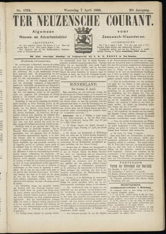 Ter Neuzensche Courant. Algemeen Nieuws- en Advertentieblad voor Zeeuwsch-Vlaanderen / Neuzensche Courant ... (idem) / (Algemeen) nieuws en advertentieblad voor Zeeuwsch-Vlaanderen 1880-04-07