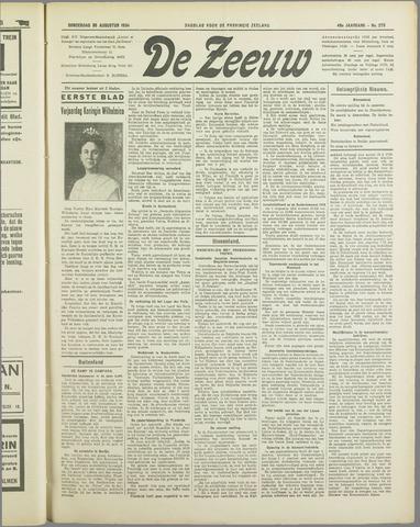 De Zeeuw. Christelijk-historisch nieuwsblad voor Zeeland 1934-08-30