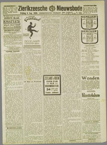 Zierikzeesche Nieuwsbode 1926-08-06