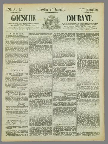 Goessche Courant 1891-01-27