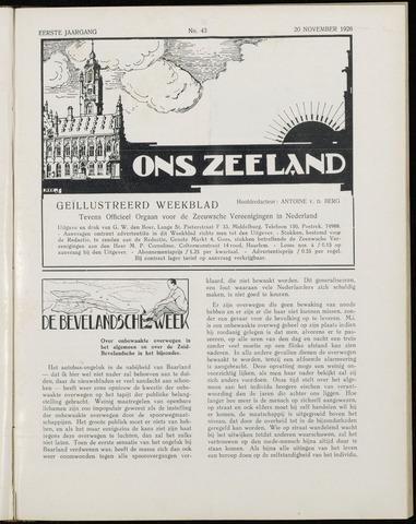 Ons Zeeland / Zeeuwsche editie 1926-11-20