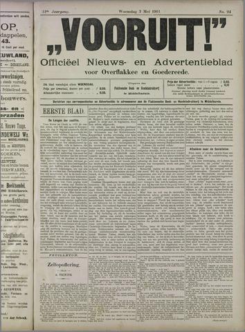 """""""Vooruit!""""Officieel Nieuws- en Advertentieblad voor Overflakkee en Goedereede 1911-05-03"""