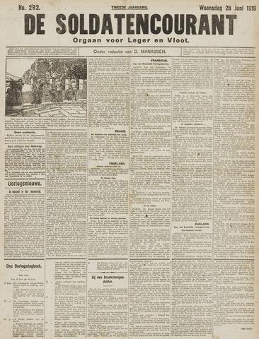 De Soldatencourant. Orgaan voor Leger en Vloot 1916-06-28