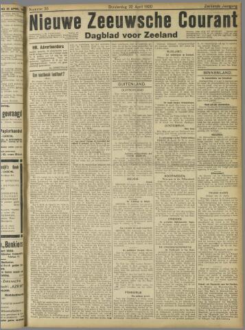 Nieuwe Zeeuwsche Courant 1920-04-22