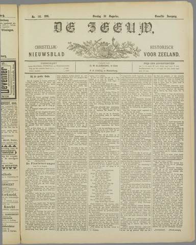 De Zeeuw. Christelijk-historisch nieuwsblad voor Zeeland 1898-08-30