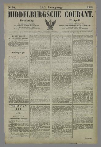 Middelburgsche Courant 1883-04-26