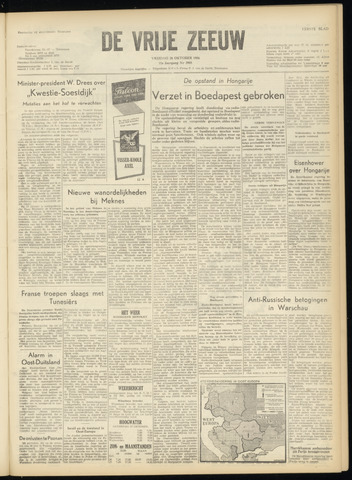 de Vrije Zeeuw 1956-10-26