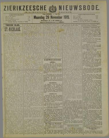Zierikzeesche Nieuwsbode 1915-11-29