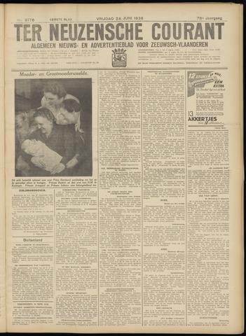Ter Neuzensche Courant. Algemeen Nieuws- en Advertentieblad voor Zeeuwsch-Vlaanderen / Neuzensche Courant ... (idem) / (Algemeen) nieuws en advertentieblad voor Zeeuwsch-Vlaanderen 1938-06-24