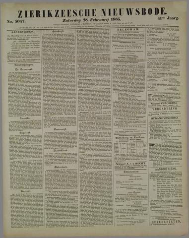 Zierikzeesche Nieuwsbode 1885-02-28