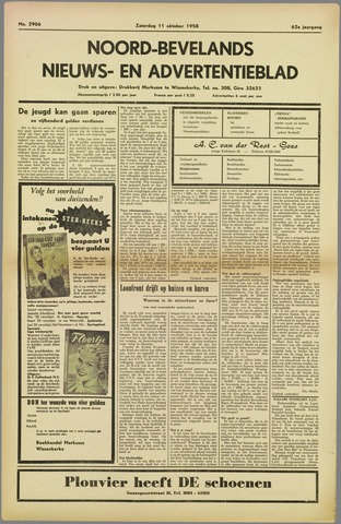 Noord-Bevelands Nieuws- en advertentieblad 1958-10-11