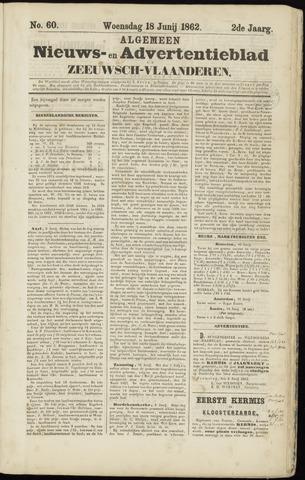 Ter Neuzensche Courant. Algemeen Nieuws- en Advertentieblad voor Zeeuwsch-Vlaanderen / Neuzensche Courant ... (idem) / (Algemeen) nieuws en advertentieblad voor Zeeuwsch-Vlaanderen 1862-06-18