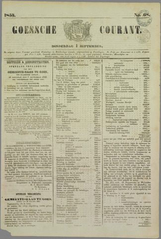 Goessche Courant 1853-09-01