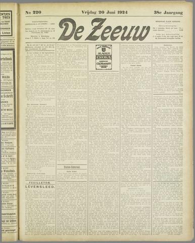 De Zeeuw. Christelijk-historisch nieuwsblad voor Zeeland 1924-06-20