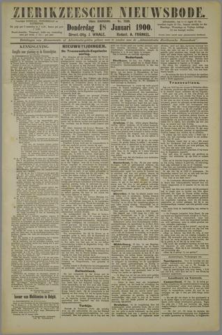 Zierikzeesche Nieuwsbode 1900-01-18