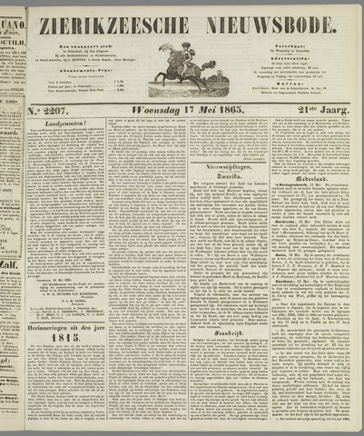 Zierikzeesche Nieuwsbode 1865-05-17
