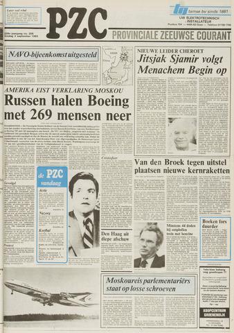Provinciale Zeeuwse Courant 1983-09-02