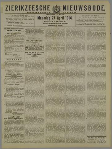 Zierikzeesche Nieuwsbode 1914-04-27