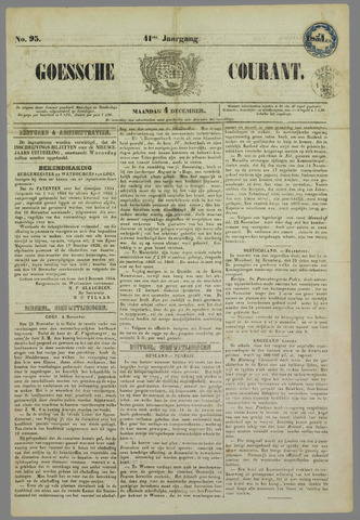 Goessche Courant 1854-12-04