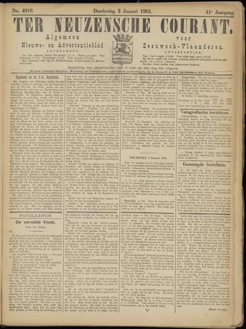 Ter Neuzensche Courant. Algemeen Nieuws- en Advertentieblad voor Zeeuwsch-Vlaanderen / Neuzensche Courant ... (idem) / (Algemeen) nieuws en advertentieblad voor Zeeuwsch-Vlaanderen 1901-01-03