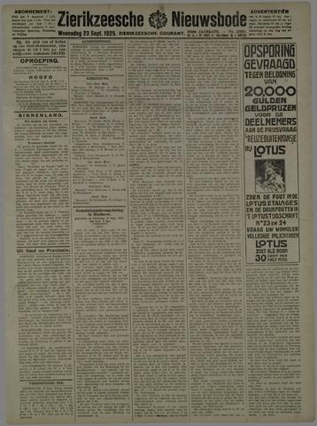 Zierikzeesche Nieuwsbode 1925-09-23