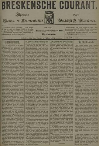 Breskensche Courant 1913-02-12