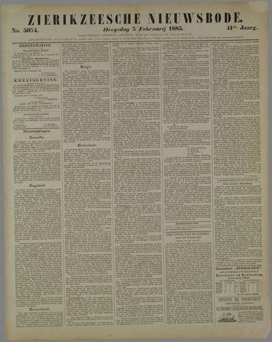 Zierikzeesche Nieuwsbode 1885-02-03