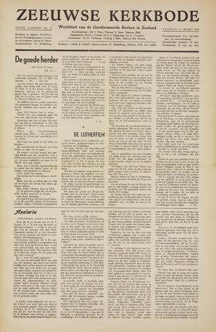 Zeeuwsche kerkbode, weekblad gewijd aan de belangen der gereformeerde kerken/ Zeeuwsch kerkblad 1955-03-11